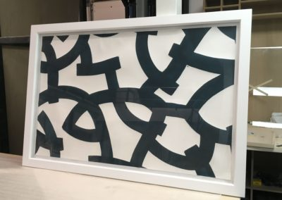 Abstract for Hamilford Design, 1x1.5m Ink on handmade paper