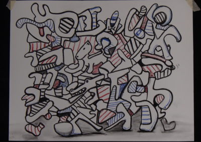"""""""Controlled Chaos"""", after Dubuffet. Pastel"""