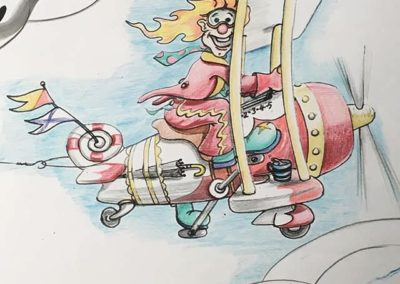 An initial character sketch for a Flying Circus.