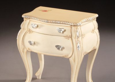 """Butterfly"" bedside cabinet, for Argent Design."