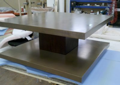 Bronze resin table