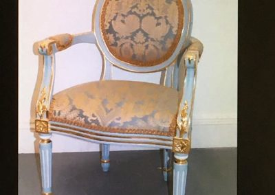 Child's fauteuil; Water gilding and eggshell