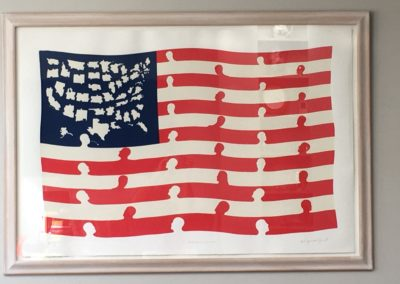 """E Pluribus Unum"" by Hugo;  Silk screen edition, 3'x4'"