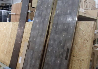 Pair of 10' shagreen doors