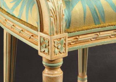 Painted and glazed colour matched chair