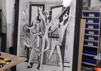 into the frame, and off to an exhibition. Hugo/Picasso, charcoal.