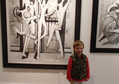 Hugo/Picassos at Canvas Gallery, Wimbledon Village.