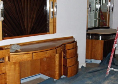 Claridges restoration of original Art Deco furniture.