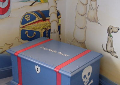 "Treasure chest for ""Seaside"" mural"