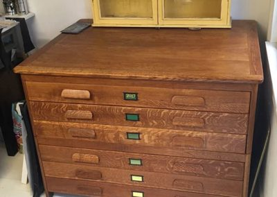 Restored 1952 oak Plan Chest
