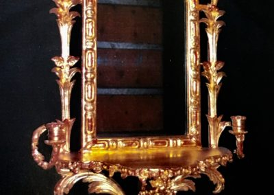 Restored water gilded mirror from 1862