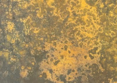 Rusty Iron paint effect.