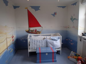hand-painted murals london seaside mural bespoke mural murals london