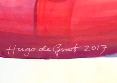 Signing off... the muralist's signature on a seaplane.