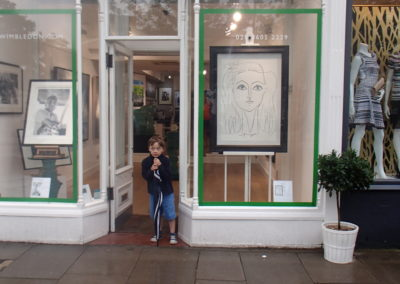 """Girl"" in the gallery window."