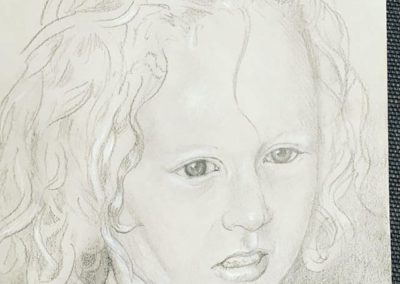 The Artist's daughter, Beatrice, Aged 7. Pencil