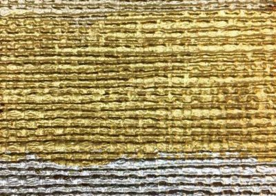 Three types of gold leaf on Rattan