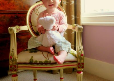 Beatrice on chair