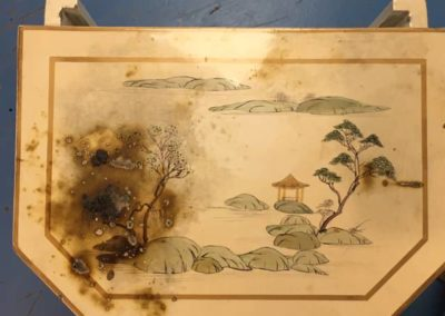 Unrestored fire damaged chinese commode...