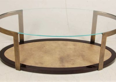 gold leaf shagreen table