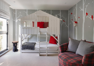 Mural; Silver birch forest for Hamilford Design, London