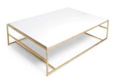 Gilded steel table frame
