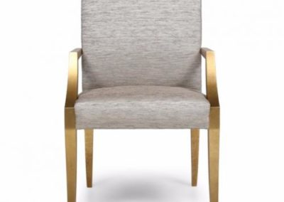 Gold and stipple glazed chair