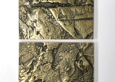 """Samurai"": heavily textured antiqued brass resin: Waxed to finish"