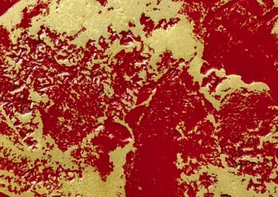Polished brass resin & red polyurethane lacquer