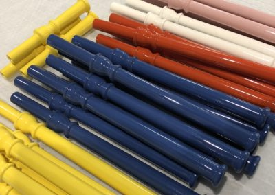 Lacquered lamp flutes