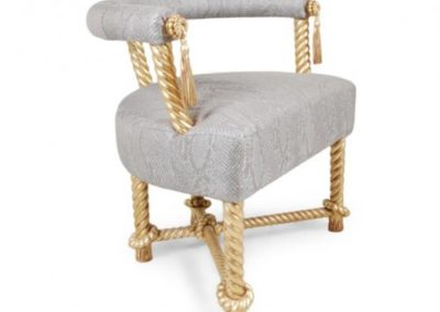Gold rope chair